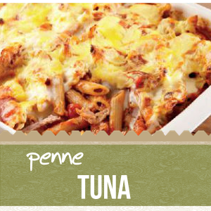 with tuna, olives, corn, mushrooms, tomato sause and mixture of semi - hard cheese